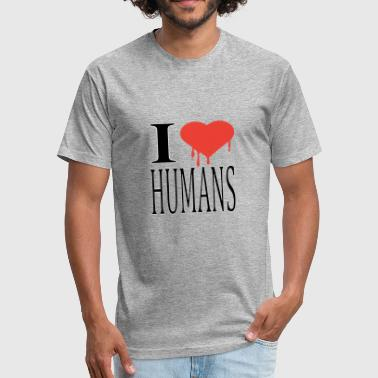 I Love Humanity i love humans - Fitted Cotton/Poly T-Shirt by Next Level