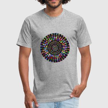Fractal Flame Do You Like Abstract Art?- Fractal Art - Fitted Cotton/Poly T-Shirt by Next Level