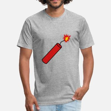 Bomb Explode rod tnt dynamite explode explosion explosive bomb - Fitted Cotton/Poly T-Shirt by Next Level