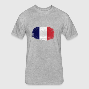 France Flag - Fitted Cotton/Poly T-Shirt by Next Level