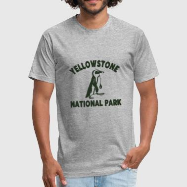 Cool Yellowstone Shirt Yellowstone Park T Shirt - Fitted Cotton/Poly T-Shirt by Next Level