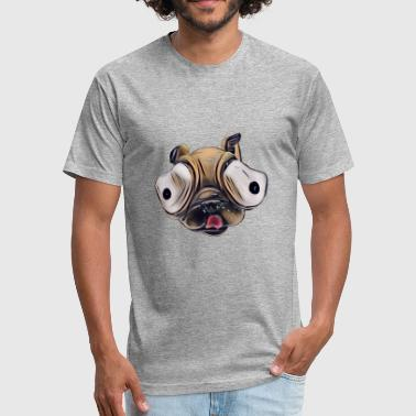 Pug the gourmet - Fitted Cotton/Poly T-Shirt by Next Level
