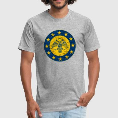 Empire Flags Byzantine Empire standard and EU Flag - Fitted Cotton/Poly T-Shirt by Next Level