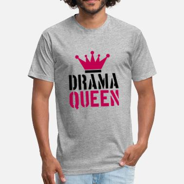 Evil Queen Quotes stamp drama queen cool woman princess female girl - Fitted Cotton/Poly T-Shirt by Next Level