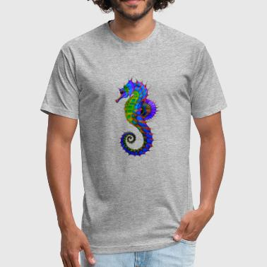 Vibrant Colors Vibrant Colored Seahorse - Fitted Cotton/Poly T-Shirt by Next Level