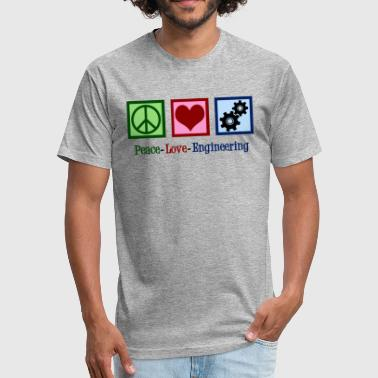 Engineering Love Peace Love Engineering Cute Engineer - Fitted Cotton/Poly T-Shirt by Next Level