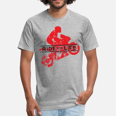 The Freestyle Life RIDE FOR LIFE - Fitted Cotton/Poly T-Shirt by Next Level