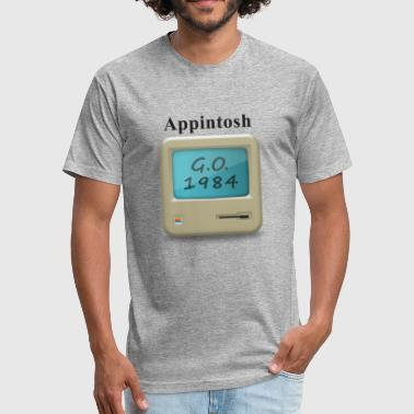 Appintosh Black Fonts - Fitted Cotton/Poly T-Shirt by Next Level