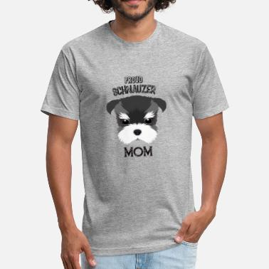 Schnauzer Mom Proud Schnauzer mom - Fitted Cotton/Poly T-Shirt by Next Level