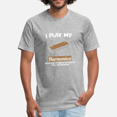 Harmonica Blues I play with my harmonica because it helps me relax - Fitted Cotton/Poly T-Shirt by Next Level