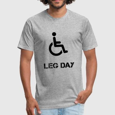 Lift Leg Leg Day Bodybuilding Powerlifting Lifting Gym - Fitted Cotton/Poly T-Shirt by Next Level