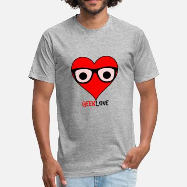 Nerdster Geek Love - Fitted Cotton/Poly T-Shirt by Next Level