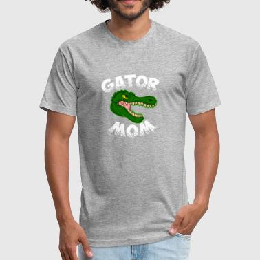 Alligator Gator Gator Mom Vintage Retro Monster Alligator - Fitted Cotton/Poly T-Shirt by Next Level
