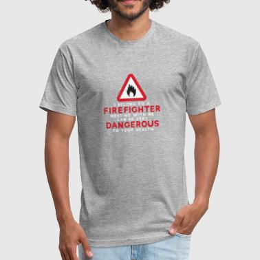 Firefighter Dangerous To Health T-Shirt - Fitted Cotton/Poly T-Shirt by Next Level
