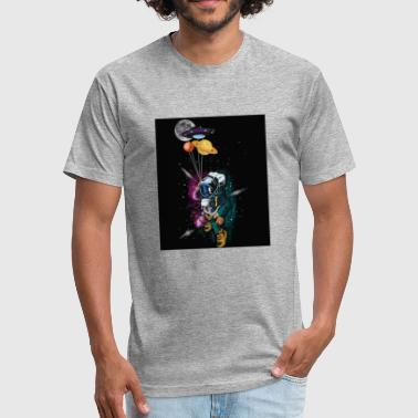 Space Astronaut - Fitted Cotton/Poly T-Shirt by Next Level