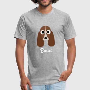 Basset Hound Dad Basset - Basset Hound - Fitted Cotton/Poly T-Shirt by Next Level