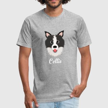 Collie - Border Collie - Fitted Cotton/Poly T-Shirt by Next Level