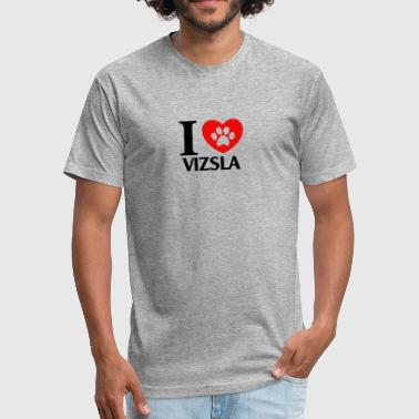 Love Vizsla vizsla - Fitted Cotton/Poly T-Shirt by Next Level