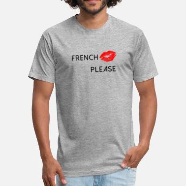 Kiss French Ride Italian French Kiss - Fitted Cotton/Poly T-Shirt by Next Level