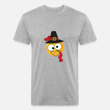 4838e5953d pilgrim thanksgiving dinner big turkey face happy Men's Premium T ...