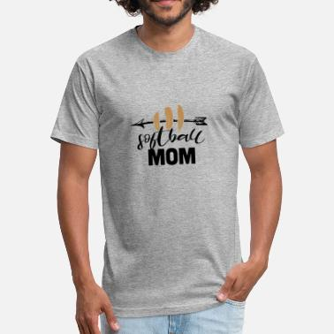 Softball Mom Gift softball mom Funny Gift - Fitted Cotton/Poly T-Shirt by Next Level