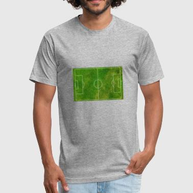 football pitch field (grass) - Fitted Cotton/Poly T-Shirt by Next Level