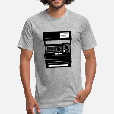 Old Camera POLAROID - old camera - vintage - Fitted Cotton/Poly T-Shirt by Next Level