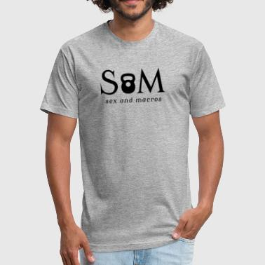 S&M Crossfit - Fitted Cotton/Poly T-Shirt by Next Level