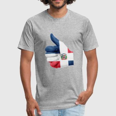 dominican republic - Fitted Cotton/Poly T-Shirt by Next Level