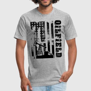 Oilfield Flag Oilfield Shirt - Oilfield Flag T shirt - Fitted Cotton/Poly T-Shirt by Next Level