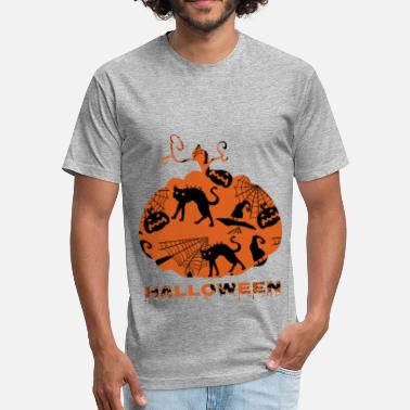 Jack O Lantern Jack-o'-Lantern - Fitted Cotton/Poly T-Shirt by Next Level