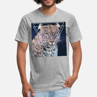 Stylish Hipster LYNX STYLISH VINTAGE HIPSTER TRI-ANGLE SHIRT - Fitted Cotton/Poly T-Shirt by Next Level
