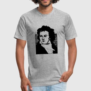 Beethoven - Fitted Cotton/Poly T-Shirt by Next Level