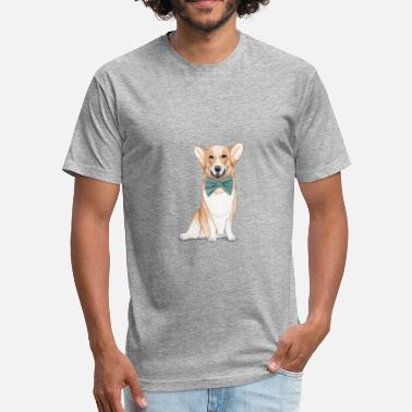 Corgi Dog Corgi Dog - Fitted Cotton/Poly T-Shirt by Next Level