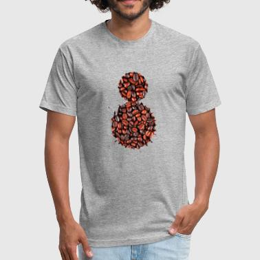 Coffee Beans - Fitted Cotton/Poly T-Shirt by Next Level