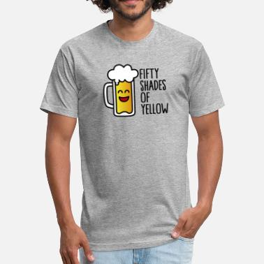 Sadomasochism Fifty shades of yellow - Fitted Cotton/Poly T-Shirt by Next Level