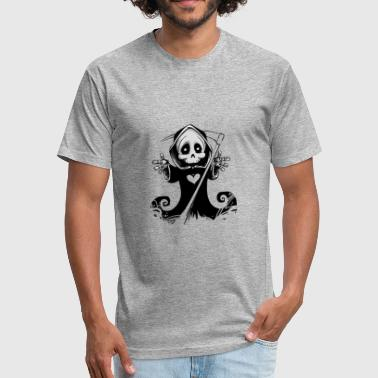 death - Fitted Cotton/Poly T-Shirt by Next Level
