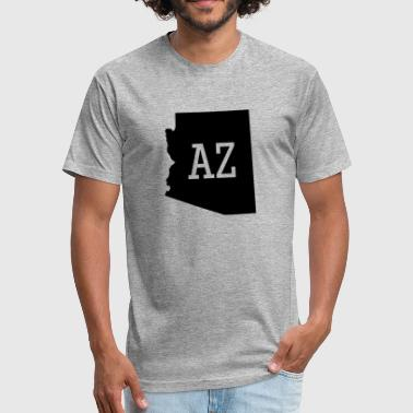 Arizona State Map Arizona State Map AZ - Fitted Cotton/Poly T-Shirt by Next Level