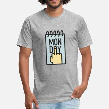 Hate Monday Hate Monday - Fitted Cotton/Poly T-Shirt by Next Level