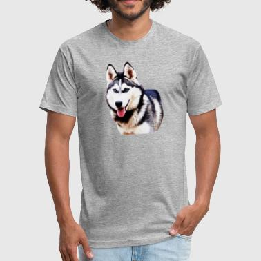 Husky Dog - Fitted Cotton/Poly T-Shirt by Next Level