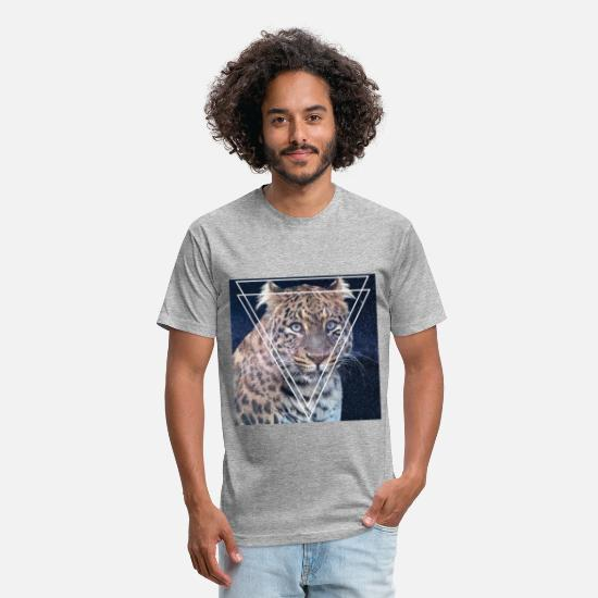Lynx T-Shirts - LYNX STYLISH VINTAGE HIPSTER TRI-ANGLE SHIRT - Unisex Poly Cotton T-Shirt heather gray