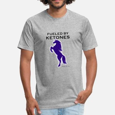 Speckled FUELED BY KETONES INDIGO SPECKLED UNICORN - Fitted Cotton/Poly T-Shirt by Next Level