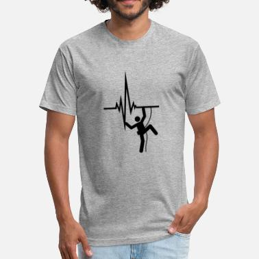 Heartbeat Symbol pulse heartbeat frequency logo figure symbol climb - Fitted Cotton/Poly T-Shirt by Next Level
