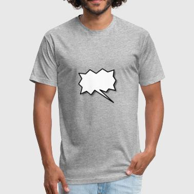Speech Balloon - Fitted Cotton/Poly T-Shirt by Next Level