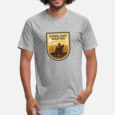 Desert Boots Desert Tours - Fitted Cotton/Poly T-Shirt by Next Level