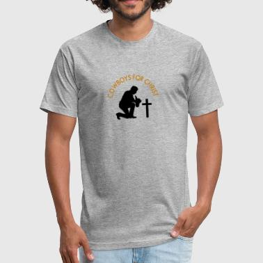 Christian Cowboy Cowboys For Christ - Fitted Cotton/Poly T-Shirt by Next Level