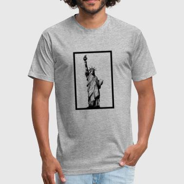 Liberty High Statue of Liberty - Fitted Cotton/Poly T-Shirt by Next Level