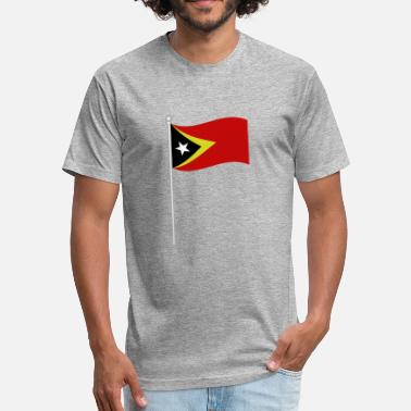 East Frisia flag of east timor - Fitted Cotton/Poly T-Shirt by Next Level