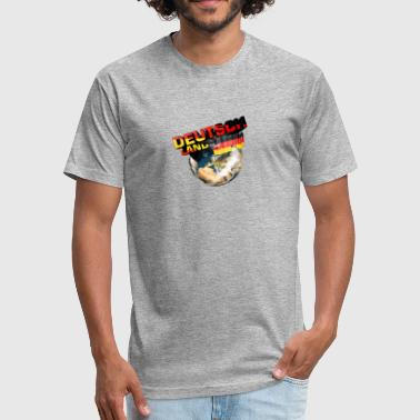 I Love Deutschland I love Germany - Deutschland - Fitted Cotton/Poly T-Shirt by Next Level