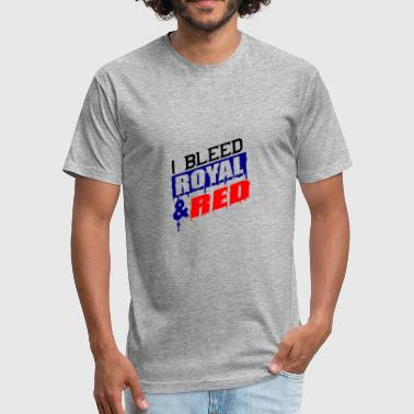 I bleed royal and red - Fitted Cotton/Poly T-Shirt by Next Level